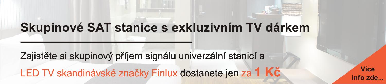 Skupinové SAT stanice Polytron a GSS a LED TV Finlux